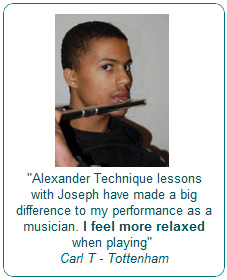 Alexander Technique lessons with Joseph have made a big difference